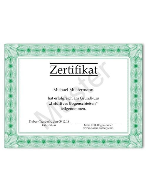 Zertifikat Grundkurs